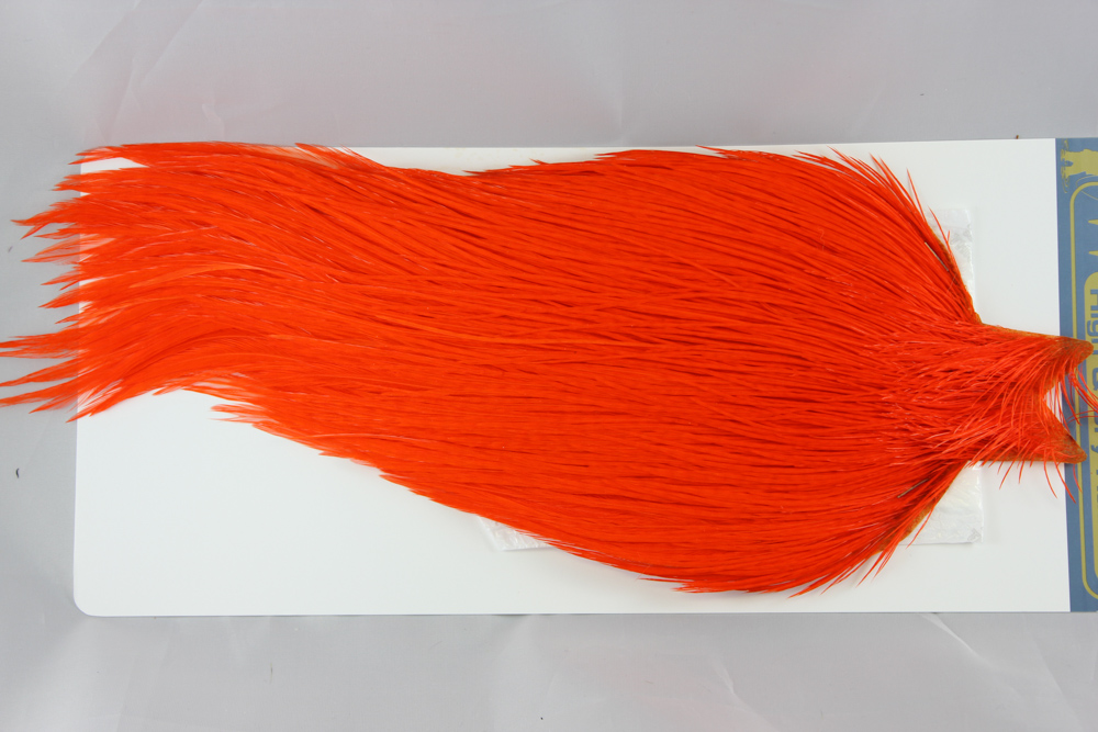 White dyed Orange High & Dry Cape #2473